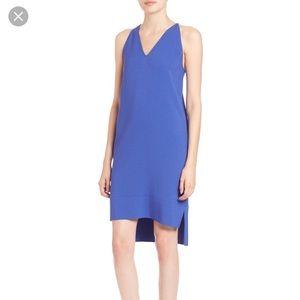 Vince Crepe Racerback Dress Blue 6